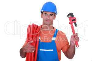 Plumber has found the right tool