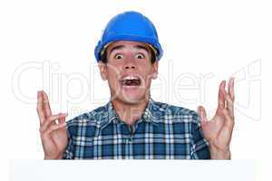 surprised craftsman screaming
