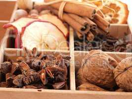 Dried fruits and herbs