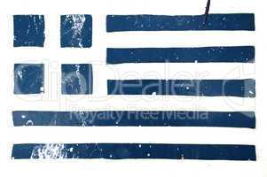 greek flag grunge stencil