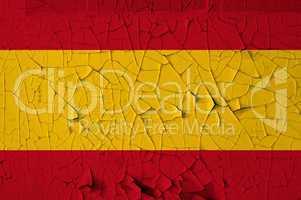 spanish flag grunge background