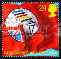 Postage stamp GB 1992 Flag of British Paralympic Association