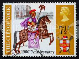 Postage stamp GB 1971 Roman centurion on horseback