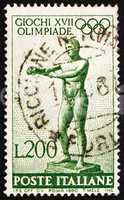 Postage stamp Italy 1960 Statue of Apoxyomenos by Lysippus of Si