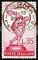 Postage stamp Italy 1960 Statue of Discobolus by Myron