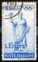 Postage stamp Italy 1960 Statue of Roman Consul on Way to the Ga