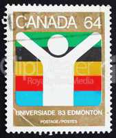 Postage stamp Canada 1983 World University Games, Edmonton