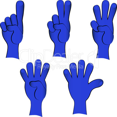People hand collection, finger gestures