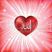 Heart as symbol of love