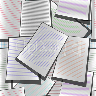 Seamless paper web site business organizer background