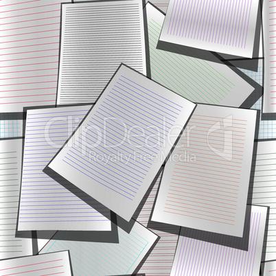 Seamless paper web site business organizer background
