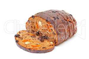 Bread with nuts and raisins