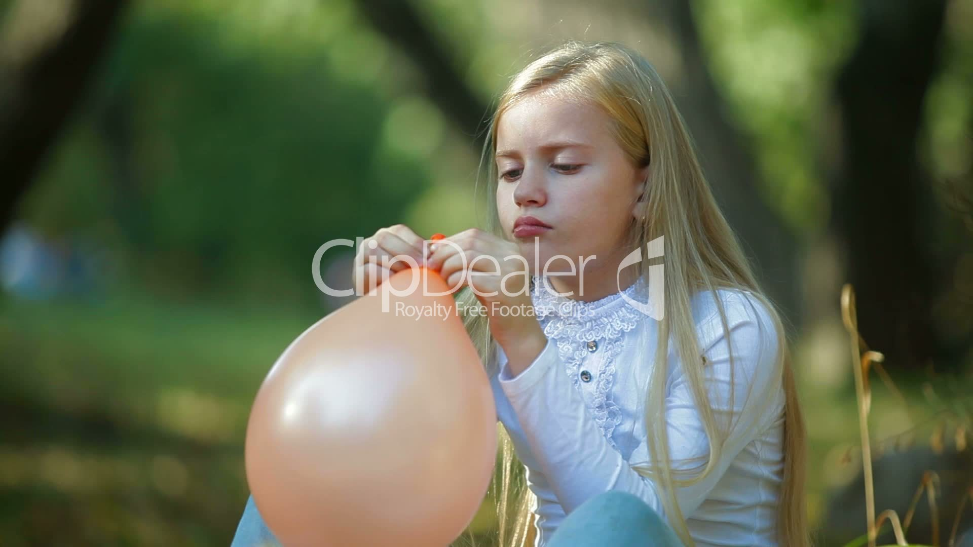 Child Blowing Up A Balloon Royalty Free Video And Stock