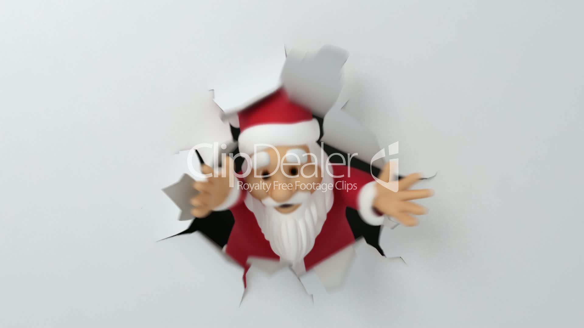 Santa tears the paper royalty free video and stock footage royalty free videos kristyandbryce Choice Image