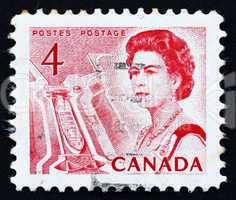 Postage stamp Canada 1967 Ship in Lock, Central Canada