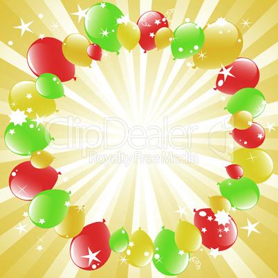 vector balloons and light-burst