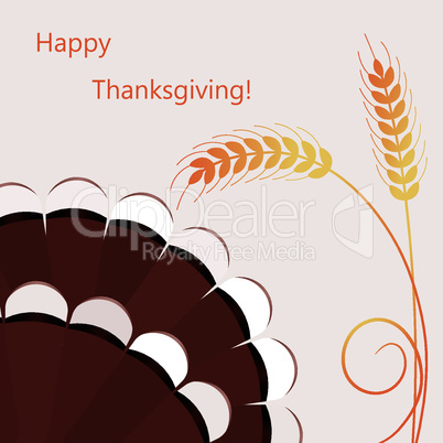 vector thanksgiving day background