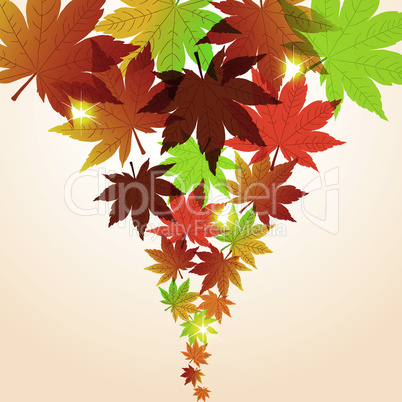 vector abstract fall background