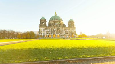 Berliner Dom (Berlin Cathedral) Motion Timelapse with Sunlight in Full HD 1080p, German Capital