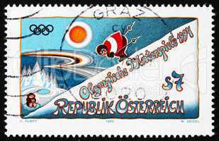 Postage stamp Austria 1994 Winter Olympics, Lillehammer, Norway