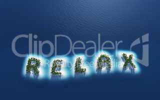 Relax - Insel Konzept in Draufsicht