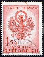 Postage stamp Austria 1959 Coat of Arms, Tyrol