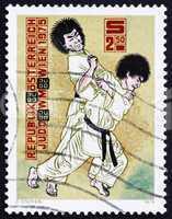 Postage stamp Austria 1975 Judo Throw