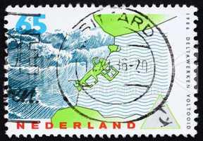 Postage stamp Netherlands 1986 Storm-surge Barrier