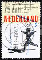 Postage stamp Netherlands 1989 Boy playing football