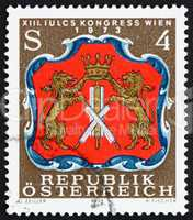 Postage stamp Austria 1973 Arms of Viennese Tanners