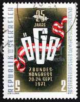 Postage stamp Austria 1971 Trade Union Emblem