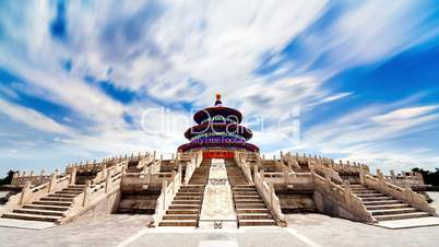 Beautiful Scene of Beijing: Temple of Heaven, Beijing, China. Timelapse