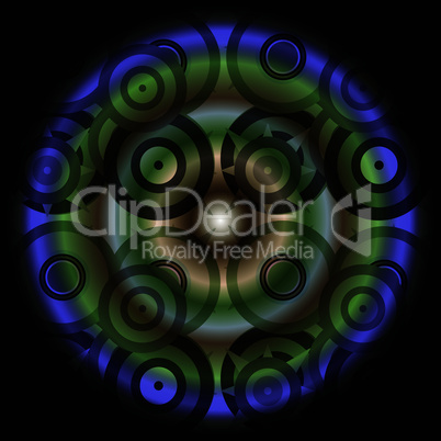 Pattern mandala green, ornamental round floral pattern. kaleidoscopic floral pattern