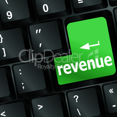 Revenue button on computer keyboard