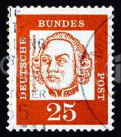 Postage stamp Germany 1961 Johann Balthasar Neumann, German Baro