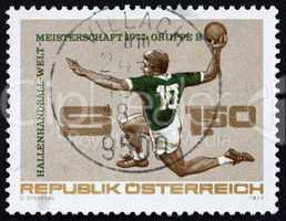 Postage stamp Austria 1977 Handball Player