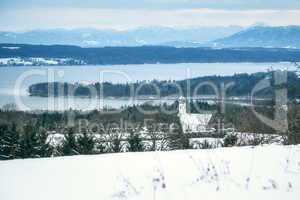 winter scenery Bavaria Germany