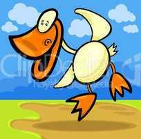 cartoon duck or duckling