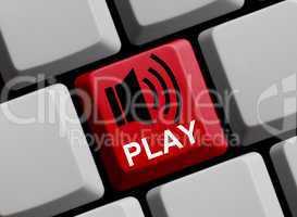 Play - Lautsprecher auf Tastatur