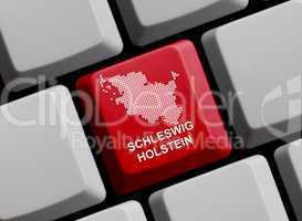 Umriss: Schleswig-Holstein auf Computer Tastatur