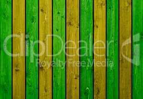 Hintergrund: Gelbe und grüne Holzbretter