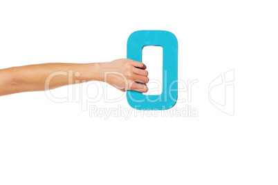 hand holding up the number zero from the left