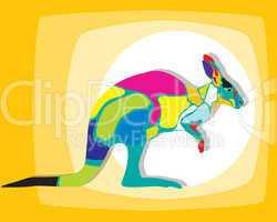 Funky kangaroo