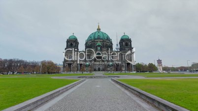 Berliner Dom (Berlin Cathedral) Motion Timelapse from Night to Day in Full HD 1080p, German Capital