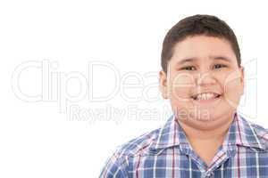 Portrait of a cute boy, isolated on white