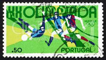 Postage stamp Portugal 1972 Soccer, 20th Olympic Games, Munich