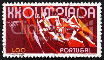 Postage stamp Portugal 1972 Running, 20th Olympic Games, Munich