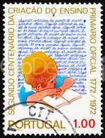 Postage stamp Portugal 1973 Pupil and Writing Exercise