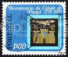 Postage stamp Portugal 1972 Arms of Pinhel