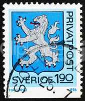 Postage stamp Sweden 1986 Arms of Halland Province